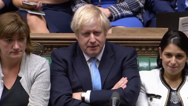 Thủ tướng Anh Boris Johson tại phiên họp Hạ viện Anh.