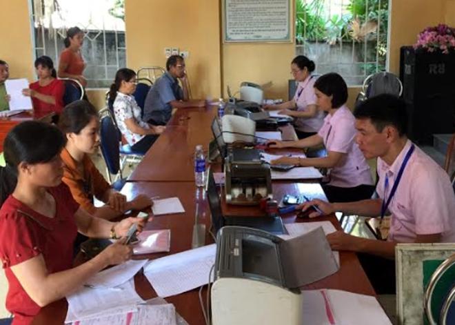 Bộ phận giao dịch của Ngân hàng Chính sách xã hội tại xã Yên Hợp, huyện Văn Yên.