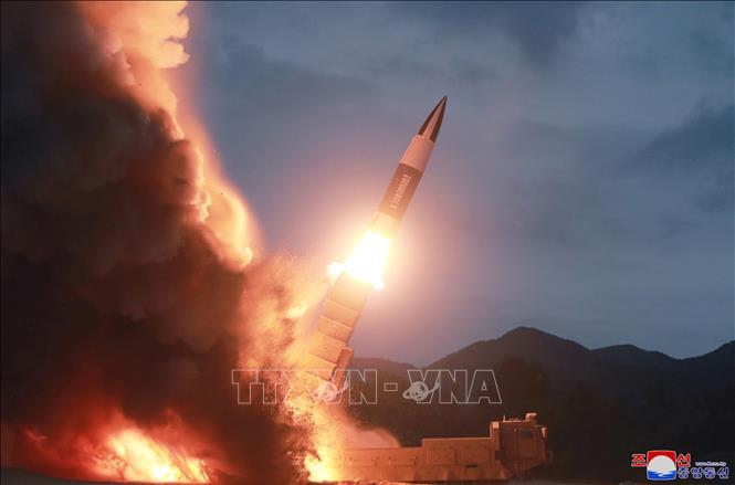Một vụ phóng thử vũ khí kiểu mới của Triều Tiên ngày 10/8/2019.