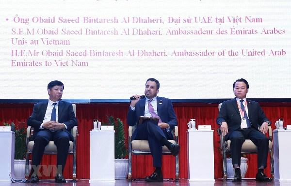 Chủ tịch UBND tỉnh Yên Bái Đỗ Đức Duy (bên phải) tham dự Tọa đàm nâng cao hiệu quả hợp tác thương mại giữa Việt Nam và Trung Đông.