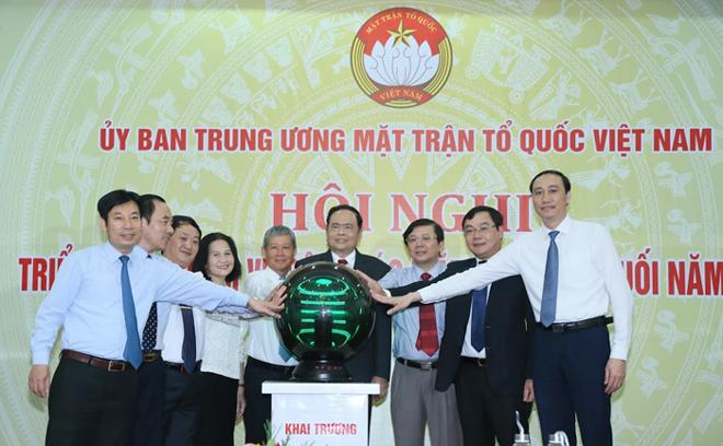 Khai trương hệ thống hội nghị trực tuyến toàn quốc của MTTQ Việt Nam.