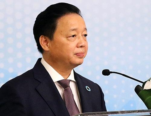 Bộ trưởng Trần Hồng Hà trong Hội thảo sáng 12/9.