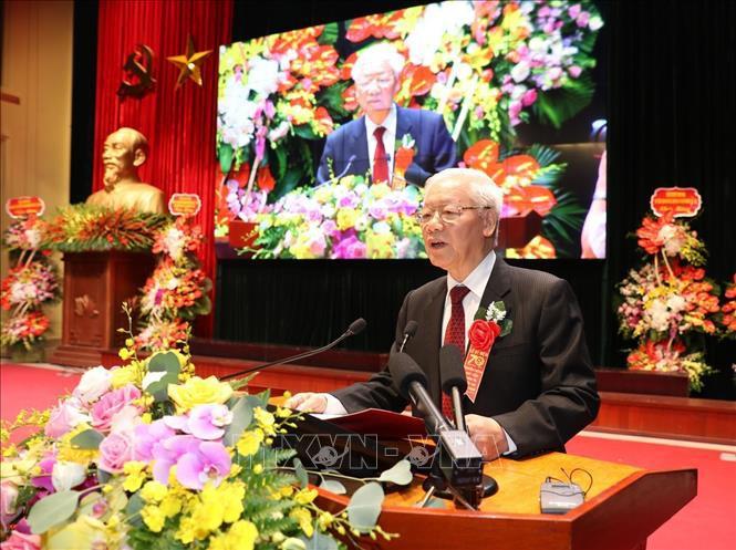 Tổng Bí thư, Chủ tịch nước Nguyễn Phú Trọng phát biểu tại buổi lễ.
