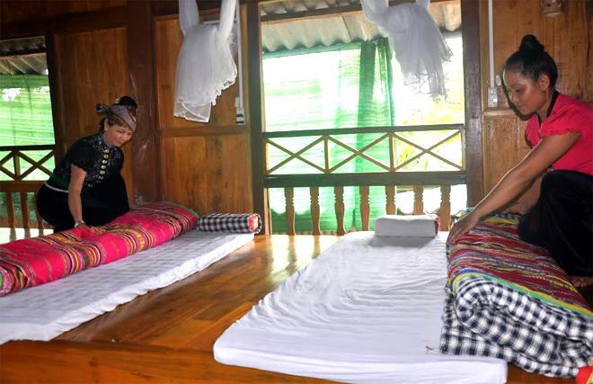 Văn hóa dân tộc ngay trong cuộc sống hàng ngày đã giúp nhiều gia đình người Thái Mường Lò làm dịch vụ du lịch homestay nhanh chóng.