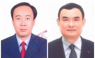 Ông Nguyễn Sỹ Hiệp (bên trái) và ông Nguyễn Xuân Thành (bên phải)