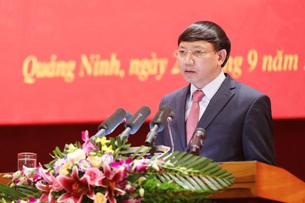 Bí thư Tỉnh ủy, Chủ tịch Hội đồng Nhân dân tỉnh Quảng Ninh Nguyễn Xuân Ký phát biểu nhận nhiệm vụ.