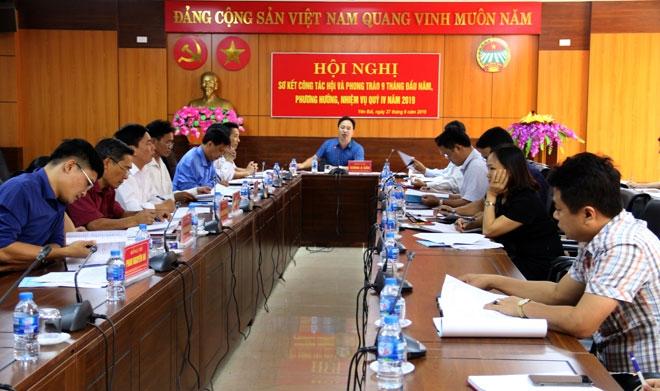 Đồng chí Giàng A Câu - Chủ tịch Hội Nông dân tỉnh chủ trì Hội nghị.