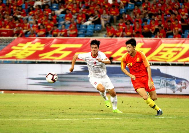 U22 Trung Quốc thua U22 Việt Nam 0-2.