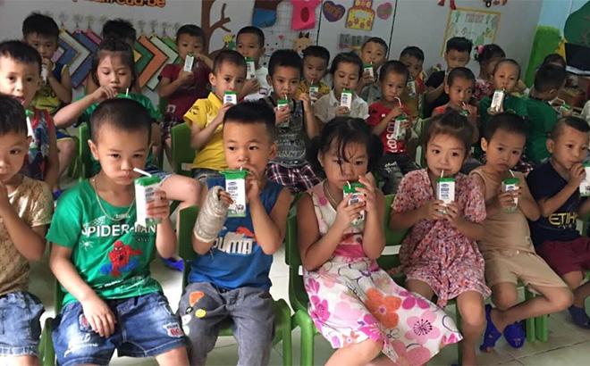 1.150 trẻ em trên địa bàn tỉnh được thụ hưởng chương trình sữa miễn phí.
