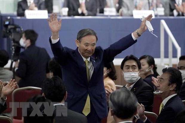 Chánh Văn phòng Nội các Nhật Bản Yoshihide Suga được bầu làm tân Chủ tịch đảng Dân chủ Tự do (LDP) cầm quyền trong cuộc bỏ phiếu tại Tokyo, Nhật Bản, ngày 14/9/2020.