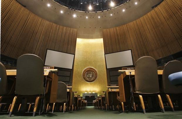 Phòng họp Đại hội đồng Liên hợp quốc tại New York, Mỹ.