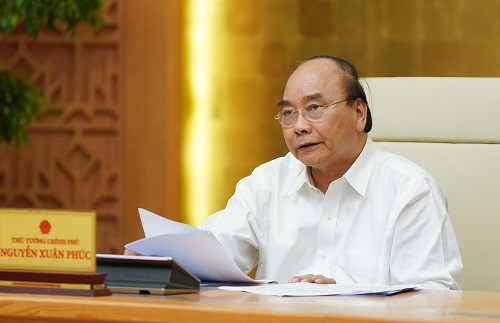 Thủ tướng Nguyễn Xuân Phúc phát biểu kết luận cuộc họp