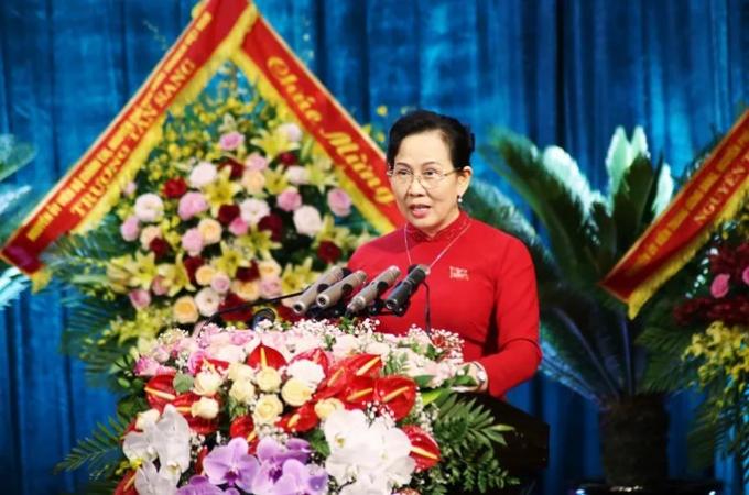 Bà Lê Thị Thủy, Ủy viên Trung ương Đảng, Bí thư Tỉnh ủy Hà Nam nhiệm kỳ 2015-2020 tái đắc cử Bí thư Tỉnh ủy Hà Nam khóa XX nhiệm kỳ 2020-2025.