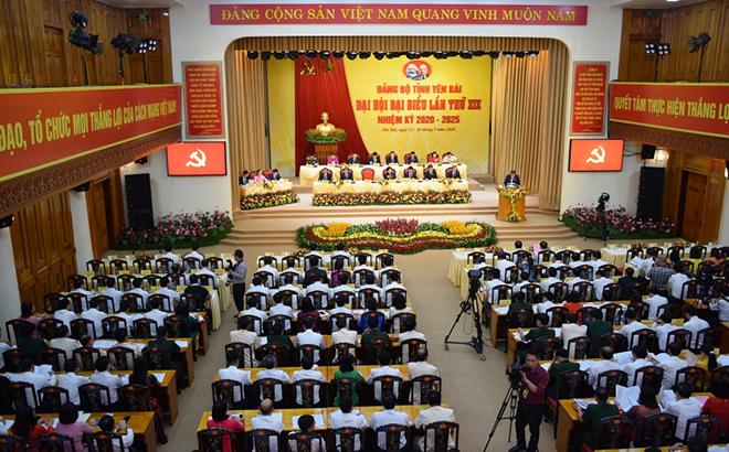 Quang cảnh phiên trù bị Đại hội Đại biểu Đảng bộ tỉnh Yên Bái lần thứ XIX, nhiệm kỳ 2020 - 2025.