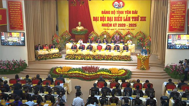 Quang cảnh Đại hội đại biểu Đảng bộ tỉnh Yên Bái lần thứ XIX, nhiệm kỳ 2020 - 2025.