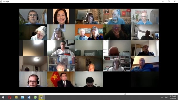 Participants in the online programme held by the Canada-Vietnam Friendship Association.