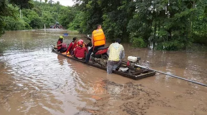 The storm noul affects Huong Hoa district, Quang Tri province