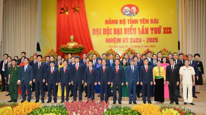 Ban Chấp hành Tỉnh ủy Yên Bái khóa XIX ra mắt Đại hội