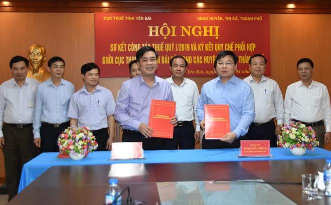 Ngành thuế tỉnh Yên Bái ký kết quy chế phối hợp với các địa phương trong công tác thu ngân sách.