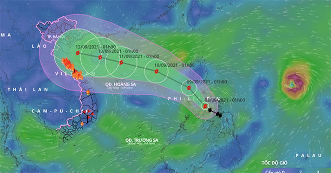 Bão Conson sẽ phải chịu tác động bởi một cơn bão rất mạnh khác đang hoạt động ngoài khơi Philippines.