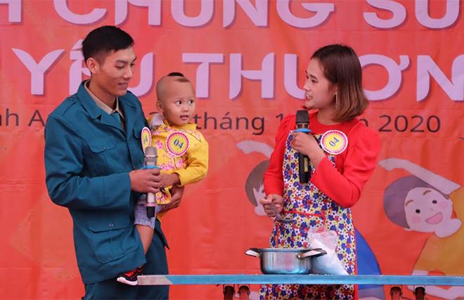 """Hình ảnh tại Cuộc thi """"Gia đình chung sức"""" của xã Minh An."""