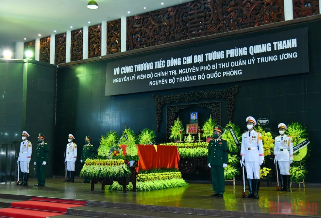 Tang lễ Đại tướng Phùng Quang Thanh được tổ chức với nghi thức lễ tang cấp Nhà nước.