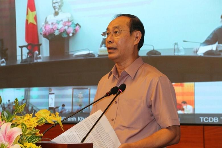 Thứ trưởng Bộ GTVT Lê Đình Thọ phát biểu tại lễ công bố.