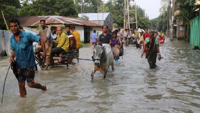 Lũ lụt ngày càng trầm trọng ở Bangladesh.