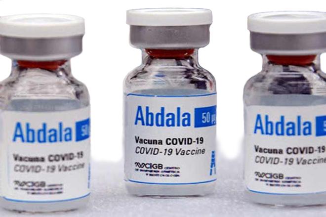 Vắc xin Abdala do Trung tâm kỹ thuật di truyền và công nghệ sinh học Cuba sản xuất.