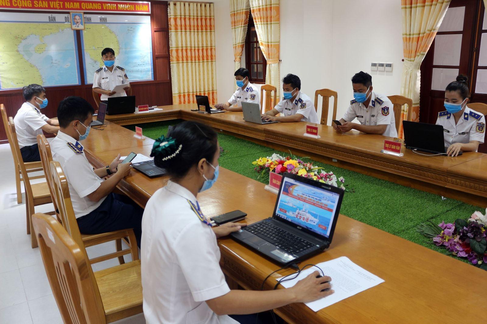 Phòng Chính trị (Bộ Tư lệnh Vùng Cảnh sát biển 4) tham gia cuộc thi