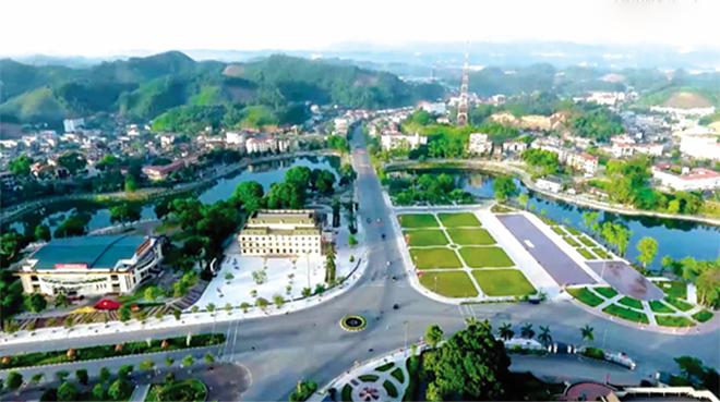 Mạng lưới đường giao thông khu trung tâm thành phố Yên Bái.